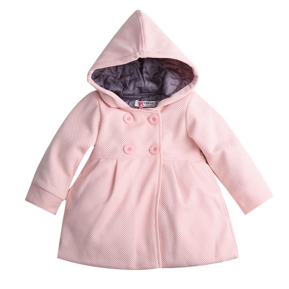 2017 Baby Kids Coat Girls Winter Pink Coat Kids Jackets
