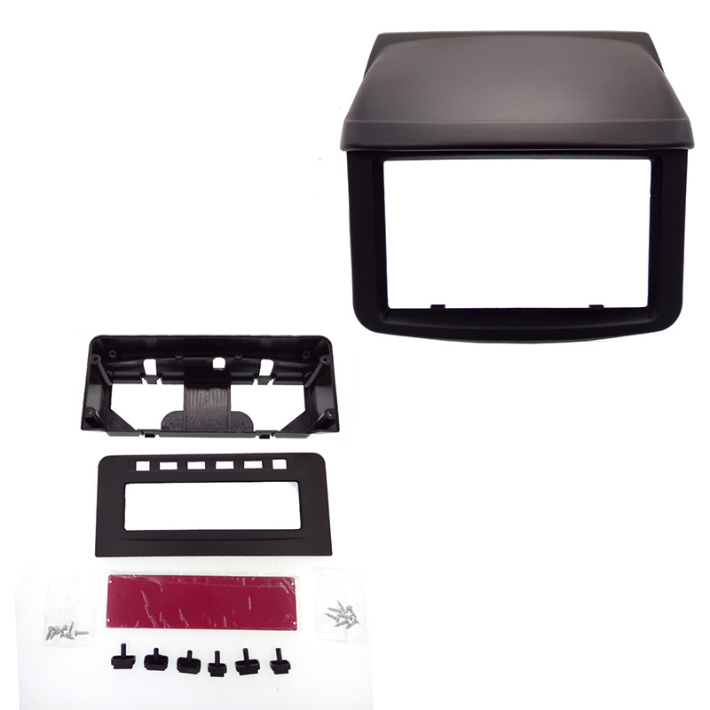 Radio DVD Stereo Panel Face Frame Fascia for Mitsubishi Pajero Sport Triton L200 MID Radio Refitting