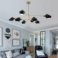 Современный роскошный дизайн черный золотой белый длинный Светодиодный Потолочный подвесной люстра, лампа для зала спальни коридора гости