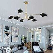 Современный роскошный дизайн черный золотой белый длинный Светодиодный Потолочный подвесной люстра, лампа для зала спальни коридора гостиной