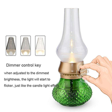 Kerosene Lamp LED Blowing Control USB Rechargeable Brightness Adjustable Candle Decorative Night Light  for Indoor & Outdoor