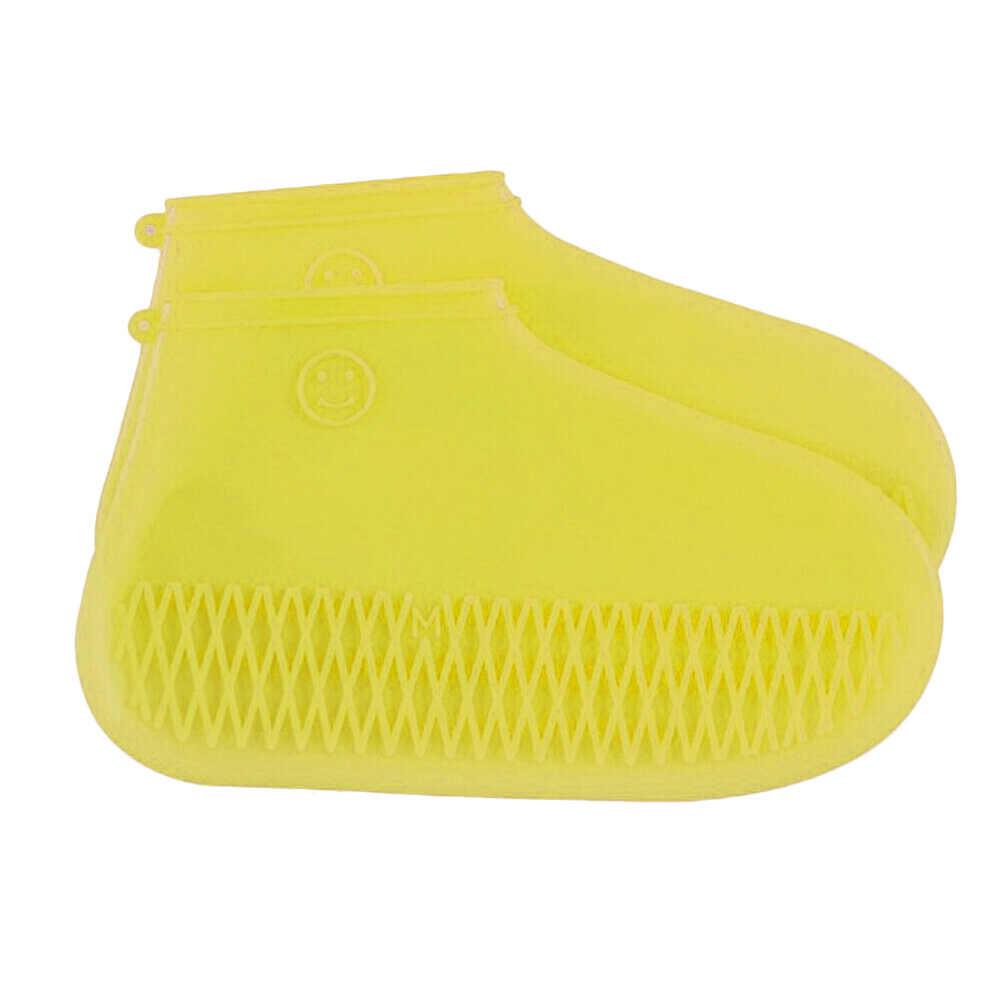 ใหม่ร้อน 1 คู่ซิลิโคน Reusable Rain รองเท้ากันน้ำรองเท้าป้องกันลื่นไถล Unisex สวมใส่ทน