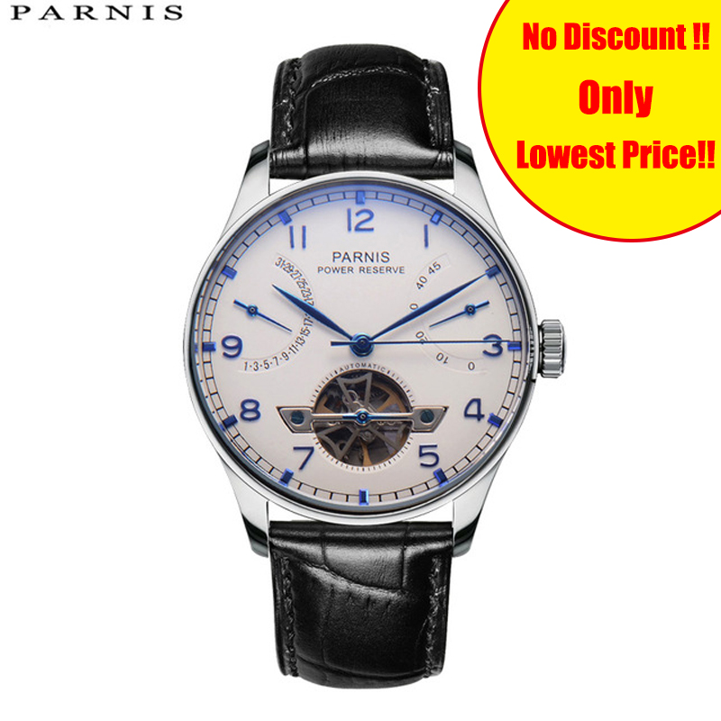 43mm Parnis Skeleton Mens Watch Automatic Watch PVD Case Power Reserve Tourbillon Mechanical Watches Men Gift Relogio Masculino43mm Parnis Skeleton Mens Watch Automatic Watch PVD Case Power Reserve Tourbillon Mechanical Watches Men Gift Relogio Masculino