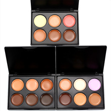 New 6 Colors Concealer Professional Makeup Repairing Stereo Mini Disk 3 Color Optional Matte Contouring Foundation Cosmetic