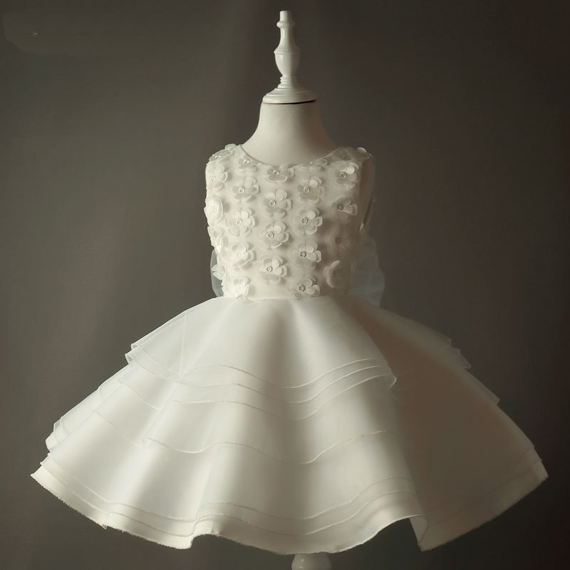 Aliexpress.com : Buy Pretty White Girls Dress For Children Flower ...