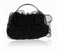 Black New Chinese Women S Satin Handbag Clutch Wedding Evening Bag Purse Makeup Bag Free Shipping