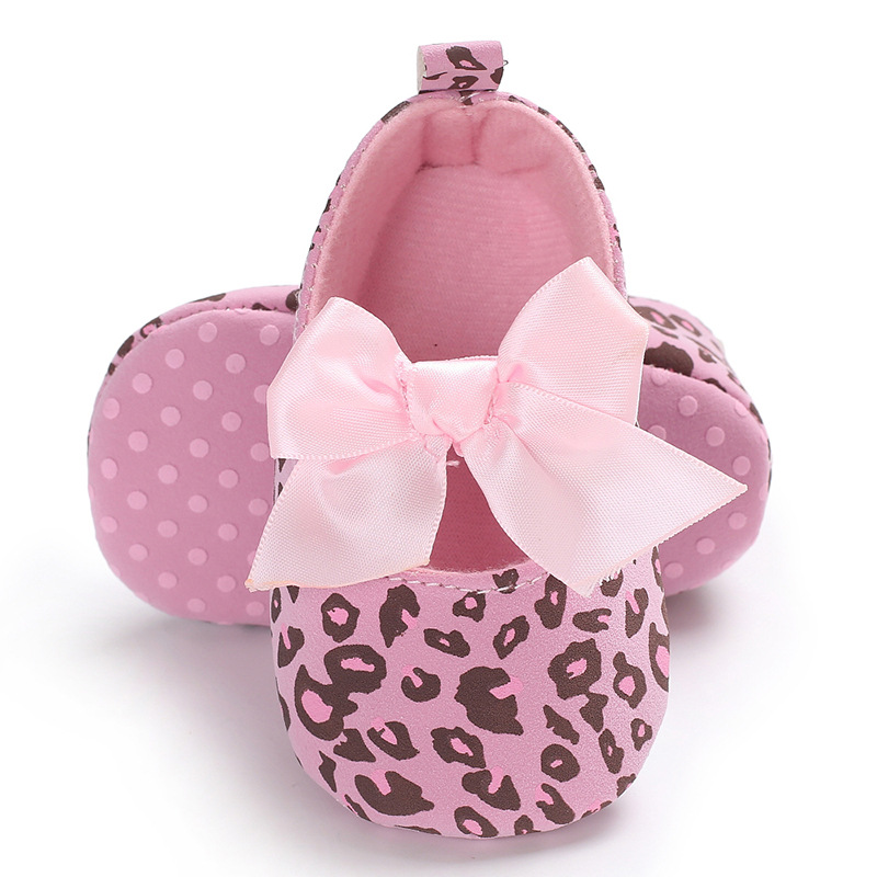 2020 Spring Leopard Print Soft Bottom Cotton Baby Shoes Newborn Non-slip Ballet Dress Princess Babies Girl Shoes For 0-1 Years