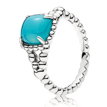 1ca48aa9b Authentic 925 Sterling Silver Ring White&blue Vibrant Spirit Rings For  Women Wedding Party Gift Fine Pandora