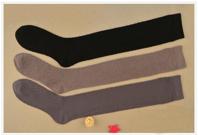 Escarpada atractiva Medias de Red de Rejilla para las mujeres calcetines de Malla de Algodón chica de moda Sobre la Rodilla Calcetines de Caña Alta Calcetines Gruesos medias