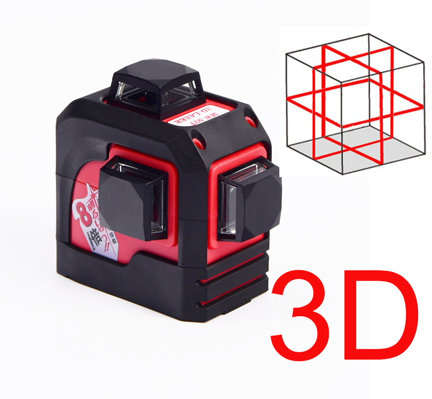 MW-93T 3D 12Lines laser level ,Red Laser level,Self-Leveling 360 Horizontal,Vertical Cross Super Powerful цена
