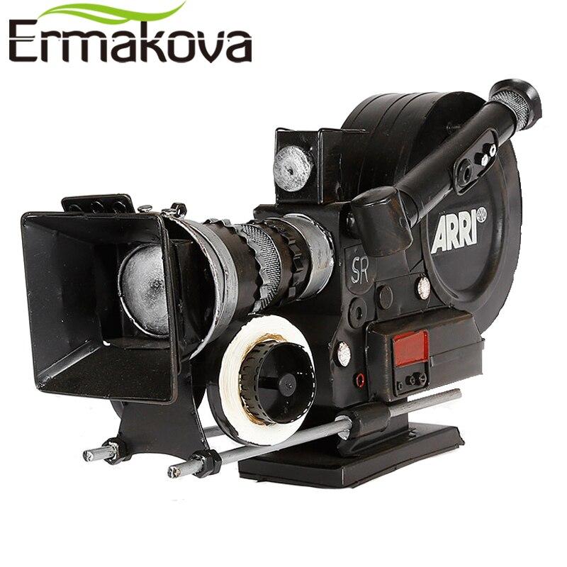 ERMAKOVA Escargot Caméra MAGNÉTOSCOPE Modèle En Métal À La Main Artisanat Rétro Vintage Classique Antique Prop pour Cadeau Décor À La Maison Ornements
