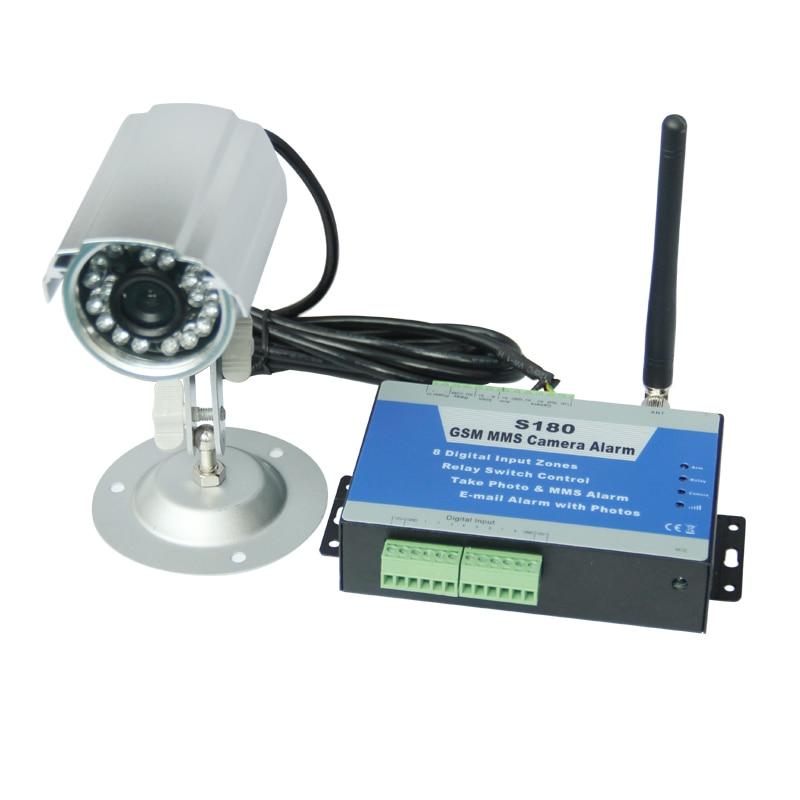 Трехдиапазонный GSM MMS контроллер камеры S180 удаленного коммутатора pir детектор движения с водонепроницаемой IP камеры по SMS Бесплатная достав...