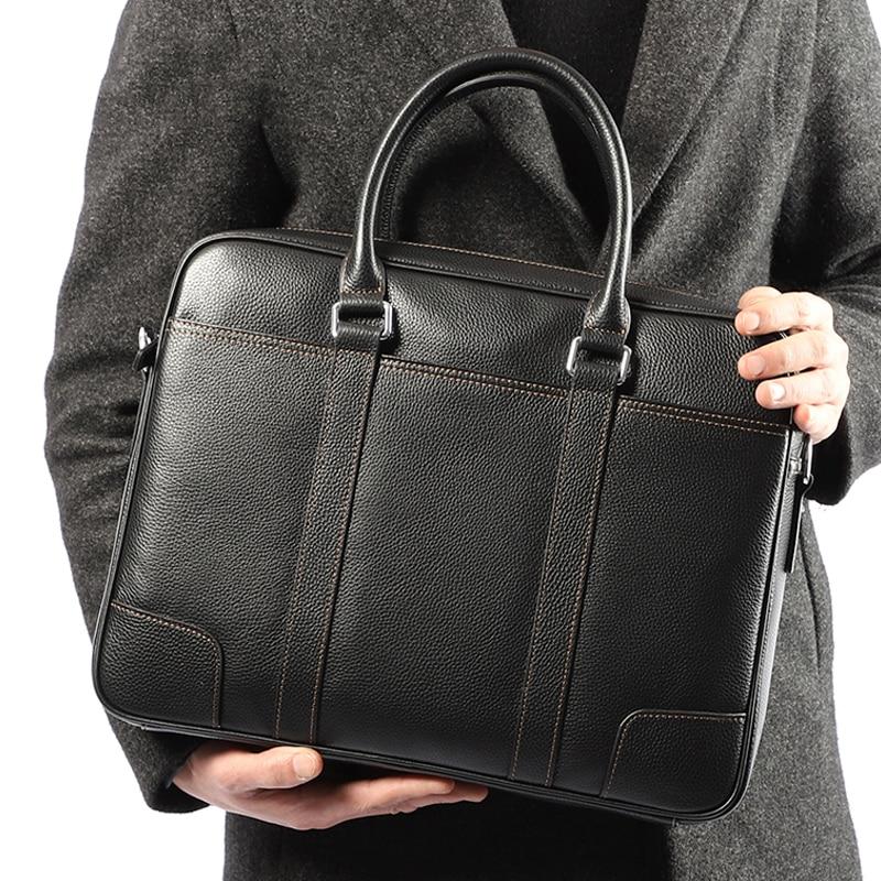 브랜드 남자 서류 가방 사무실 가방 남자 노트북 서류 가방 가죽 가방 남자 어깨 메신저 가방 패션 망 서류 가방 손-에서서류 가방부터 수화물 & 가방 의  그룹 1