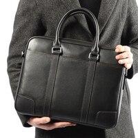 Brand Men Briefcase Office Bags for Men Laptop Briefcase Leather Bag Men Shoulder Messenger Bags Fashion Mens Document Bag Hand