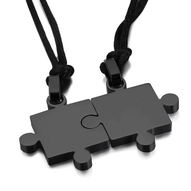 Puzzle Couple Necklace