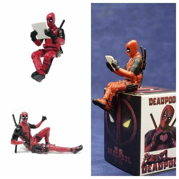 Deadpool 2 Postura Sentada Modelo Anime Mini Decoração Boneca PVC Action Figure Coleção Brinquedos Modelo Para As Crianças Brinquedos Estatueta