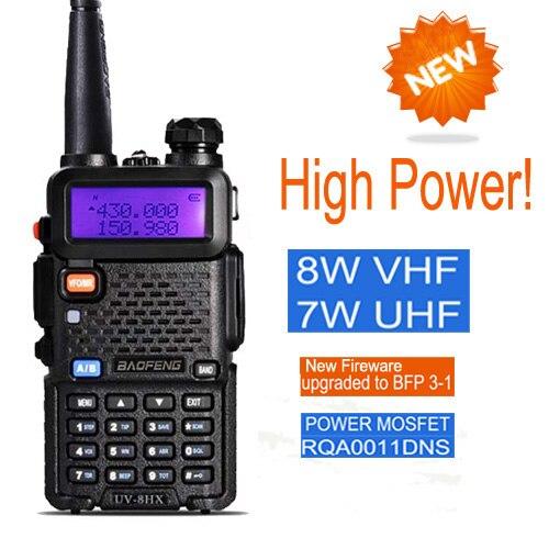 Baofeng UV-5R Uppgradering Version UV-8HX, Radio Portabel 8W Dual Band Walkie Talkie Baofeng Transceiver Communicator Walky Talky Set