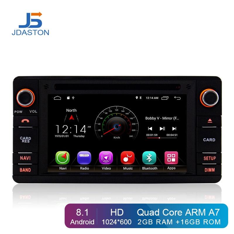 JDASTON Android 8.1 Car DVD Player For Mitsubishi Pajero V93 V97 Outlander Sport L200 2 Din Car Radio Multimedia Stereo Stereo