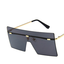 Unisex Fashion 2019 Oversized Square Rimless Sunglasses Women Brand Designer Fla