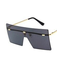 Unisex Fashion 2019 Oversized Square Rimless Sunglasses Wome