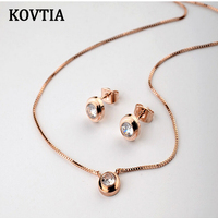 Women Sexy Gold Collarbone Chain Jewelry Set Necklace Earring Sets Italina Popular Jewelry Sets Women Accessories