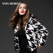 [VON MORGEN]2017 winter duck down jacket women coat parkas Female Warm Clothes High Quality black and white