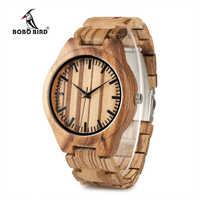 BOBO BIRD WG22 Top Quality Wood Watch for Men Wooden Fashion Brand Designer Full Zebra Watches Wooden Box