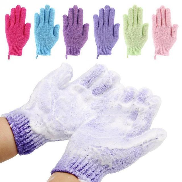 4 paia di Nylon Esfoliante Bagno Doccia Guanto Per Peeling Mitt Glove Per Il Bag