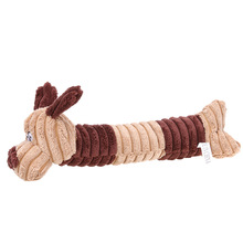Pet Chew Toy Cute Dogs Shape Pet Dog Cat Biting Chew Bite Funny Plush Sound Squeak Pets Supplies Dog Chew Toy
