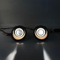 RQXR fog lamp driving light assembly for Chevrolet Captiva 2008 cob angel eye led daytime running lights turn signal