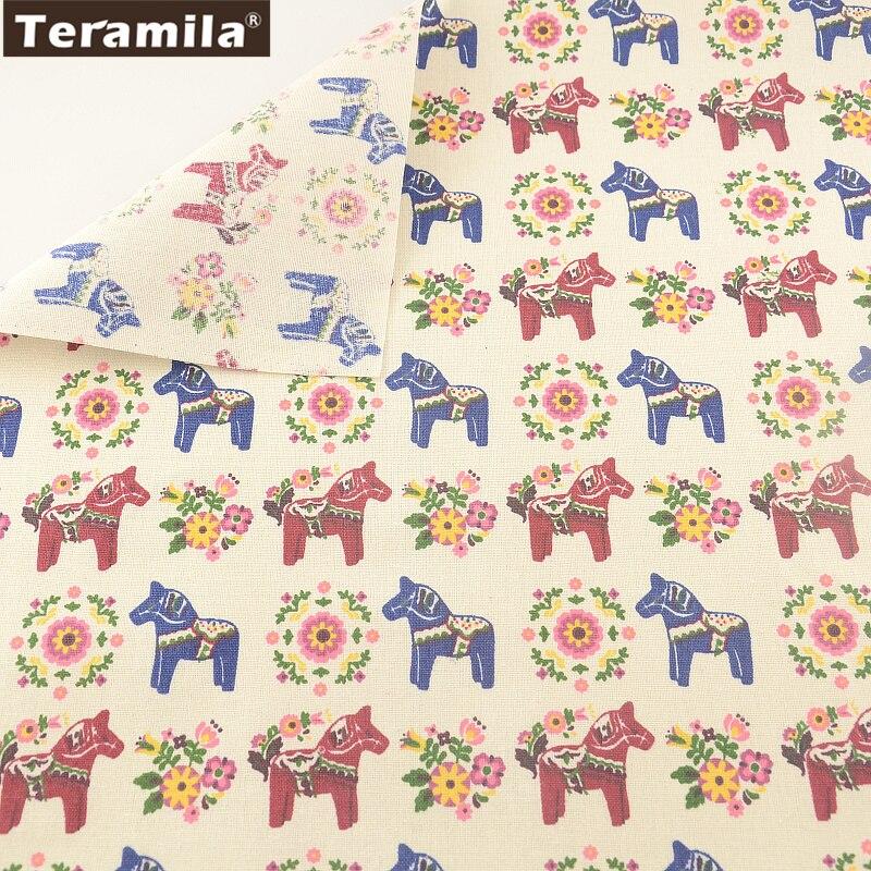 Bolso de la almohadilla mantel cortina almohada cojín zakka horse imprimir teram