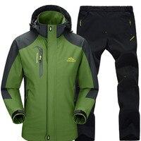 Новинка 2018 года на весну и зиму Для мужчин вне куртка брюки набор ветровка плащ Mountain Костюмы