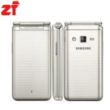 """Новый Оригинальный Samsung Galaxy Папка G1600 (2016) Dual SIM LTE Мобильный Телефон Quad Core 480×800 1.4 ГГц 16 ГБ ROM 2 ГБ RAM 3.8 """"дюймовый Телефон"""