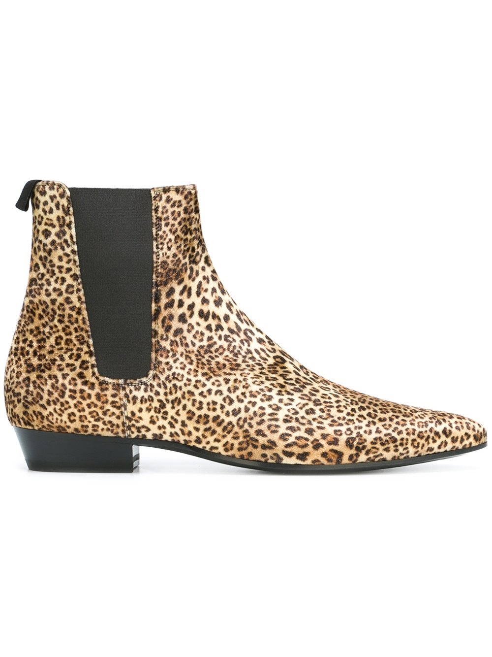 deb79ae005b4 WPG Vintage Style leopard Chelsea Boots Top quality Leather Suede Men Shoes  Luxury Brand Chelsea Men