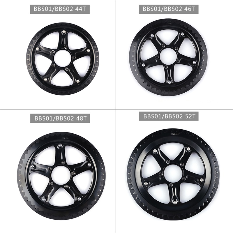 Bafang BBS01 BBS02 Electric Bike Chain Wheel Replacement Chainwheel Guard  44T 46T 48T 52T Chain Teeth for BBS01B BBS02B MotorElectric Bicycle Accessories   -