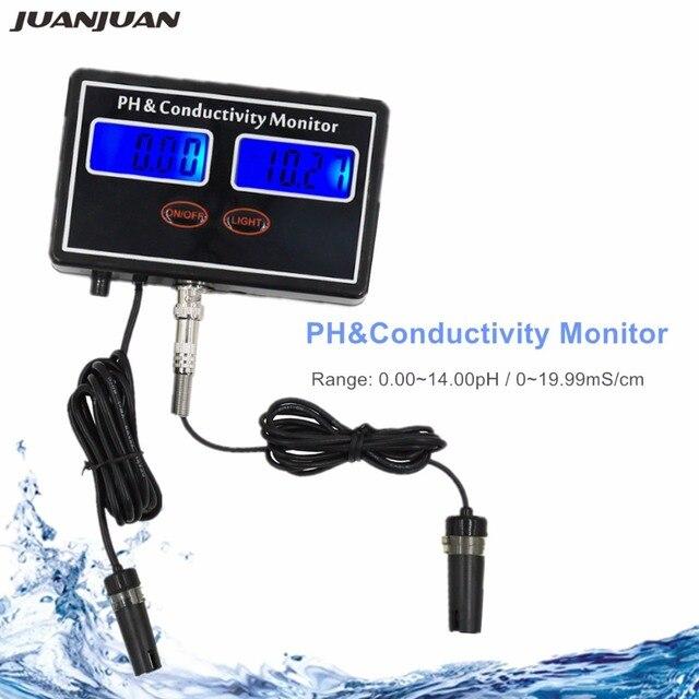 Цифровой онлайн PH проводимость монитор метр тестер Качество воды в режиме реального времени непрерывный мониторинг для аквариума