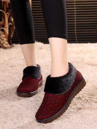 32fb8800a7 Sapatos Das Veludo Algodão Neve Marrom Casa De Quente Além Em Mãe Botas  Senhoras Atacado Por vermelho Mulheres 54CxxwXq