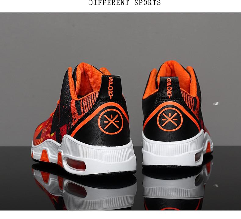 Plus Size 35-46 Sport Fashion Sneakers Women Breathable Geometric Basket Female Men's Casual Shoes Air Cushion Sneakers NX013 (20)