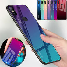 For Xiaomi Mi 8 Lite Max 3 Redmi 7 6A A3 6 pro Gradient Tempered Glass Case Cover For Xiaomi Pocophone F1 5X A1 A2 6X MIX 2S bonvan phone case for xiaomi mi a2 lite case cloth deer cover for xiomi mi 8 se explorer max 3 mix 2s case for redmi 6 6a pro