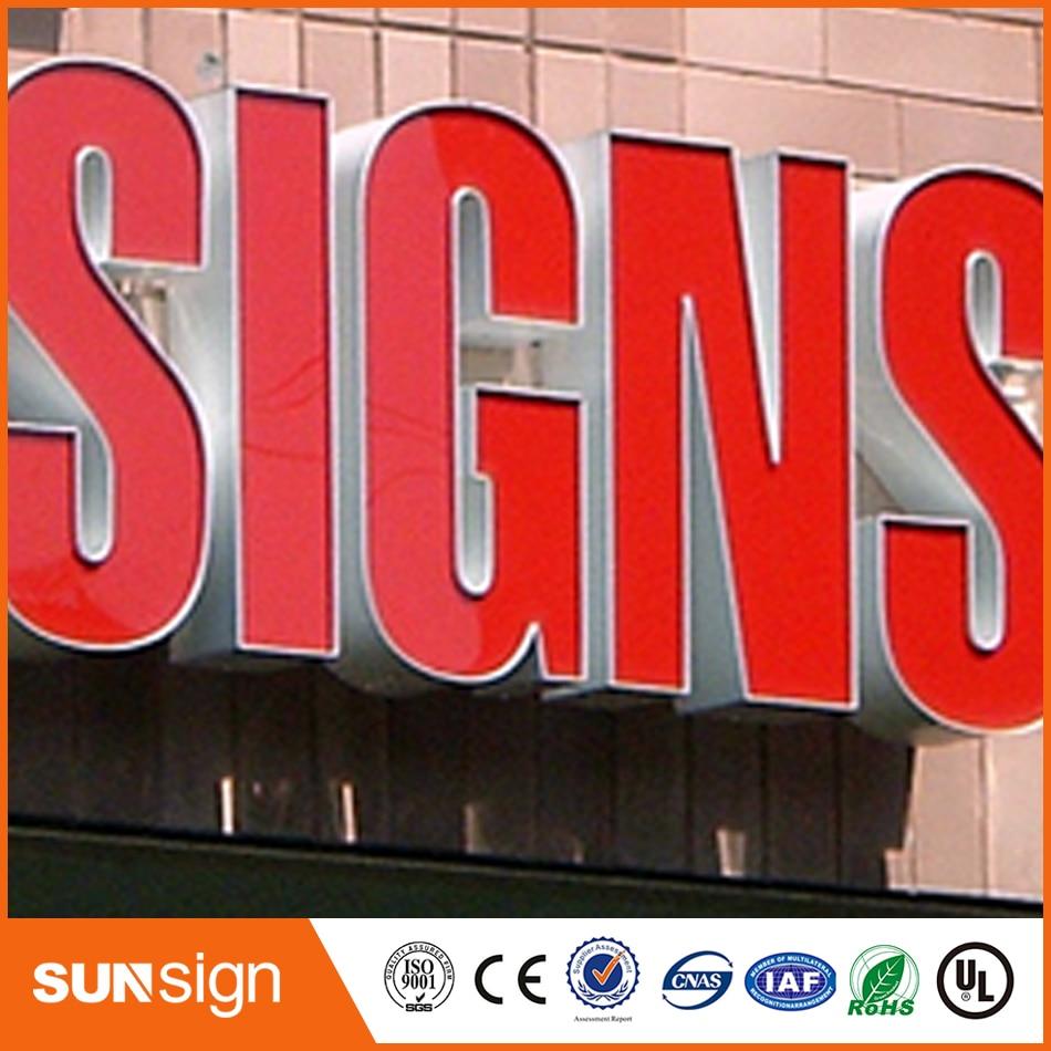 Custom Led Sign Acrylic Frontlit Letter Sign