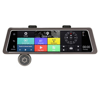 4G 10in Touch IPS Dual Lens Car Rearview Mirror Camera ADAS Bluetooth 4 0 DVR Recorder