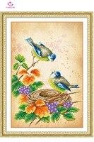 5d Diy Diamond Painting Animals Two Birds Mosaic Round Diamond Embroidery Needlework Cross Stitch Resin Diamond
