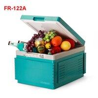 FR 122A Tragbare Gefrierfach 12 L Mini Kühlschrank Kühlschrank Auto Hause EINE Dual Einsatz Compact Auto Kühlschrank 12/220 V Temperatur Variationen-in Kühlschränke aus Haushaltsgeräte bei