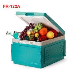 FR-122A freezer portátil 12 l mini geladeira geladeira carro casa um duplo uso compacto carro frigorífico 12/220 v variações de temperatura