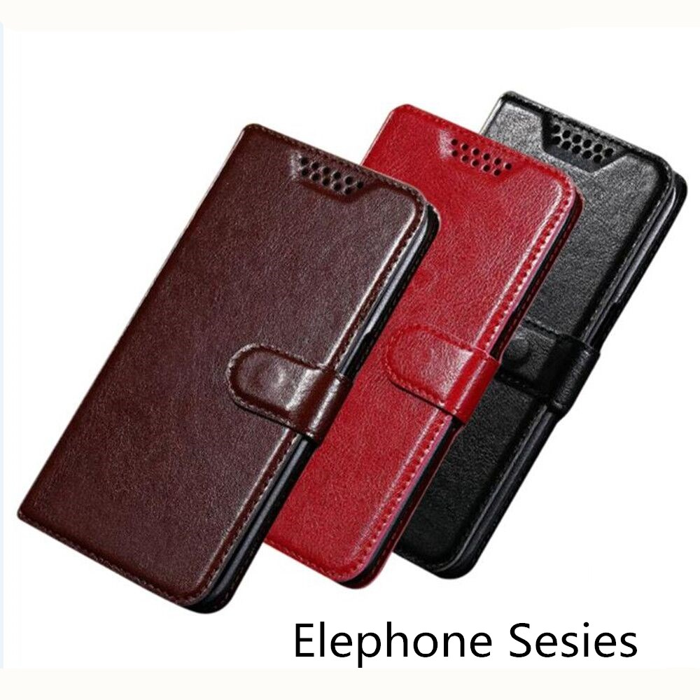 Wallet Cases For Elephone A4 U Pro A1 C1 mini Case Leather PU Retro Protection Phone Case For Elephone P8 Lite Phone cases
