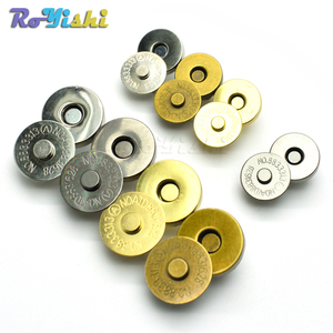 Magnetic Snap Fasteners Clasps Buttons Handbag Purse Wallet Craft Bags Parts Accessories 14mm 18mm(China)