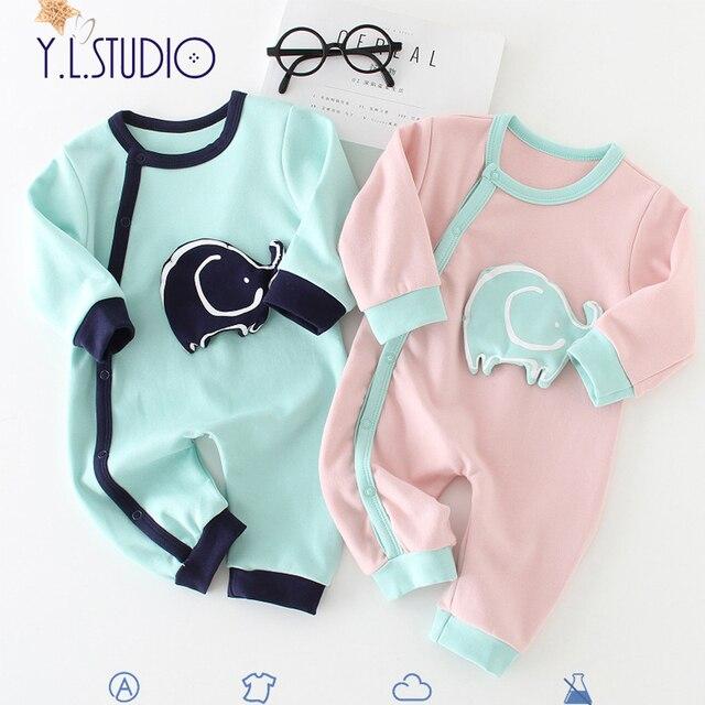 7716117d2a3d Newborn Boy onesies Winter Overalls For Girls Long Sleeves Animal Print  onesie roupa menina Autumn Toddler baby Romper Jumpsuit
