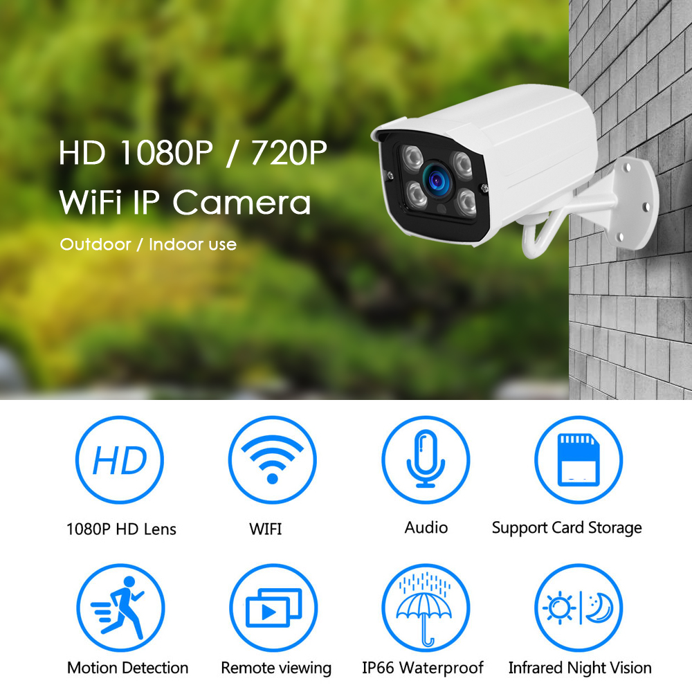Image 2 - Gadinan 1080P SONY IMX307 WIFI Wireless IP Camera 720P 1080P Metal Outdoor TF Card Slot Surveillance Waterproof CCTV Camera-in Surveillance Cameras from Security & Protection