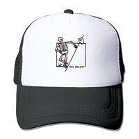לשני המינים הו הצמד כובע בייסבול Snapback כובע נהג משאית רשת ינשוף מצחיק שלד ליל כל הקדושים