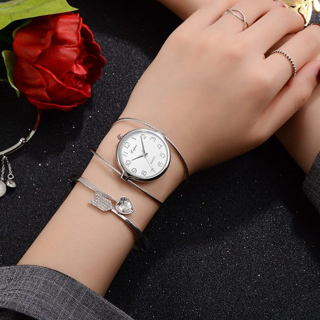 Lvpai Women Dress Watches Women Bracelet Watch Rose Gold Creative Fine strap Watches Women Fashion Luxury Quartz Watch LP353
